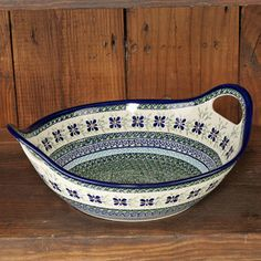 Shop Boleslawiec Polish Pottery Round Serving Bowl/Baker with Handles, 12 inch at CHEFS.