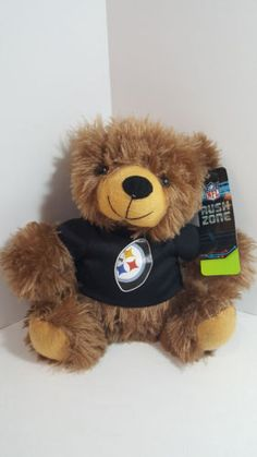 Pittsburgh-Steelers-Plush-Bear-NFL-Football-Licensed-Rush-Zone-NWT