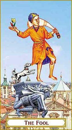 The Fool - The Tarot of Prague- If you love Tarot, visit me at www.WhiteRabbitTarot.com