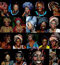 Fela Kuti's wives, I'll keep my opinion to myself I was attracted to their beautiful makeup and embellishment's, and that is it.