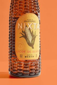 Nixta Licor de Elote on Packaging of the World - Creative Package Design Gallery Glass Packaging, Beverage Packaging, Brand Packaging, Design Packaging, Label Design, Package Design, Branding Design, Graphic Design, Identity Branding