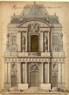 Ideas House Facade Classic Building Buildings can be a High priced Portion! Architecture Baroque, Detail Architecture, Architecture Mapping, Neoclassical Architecture, Religious Architecture, Classic Architecture, Architecture Drawings, Historical Architecture, Ancient Architecture