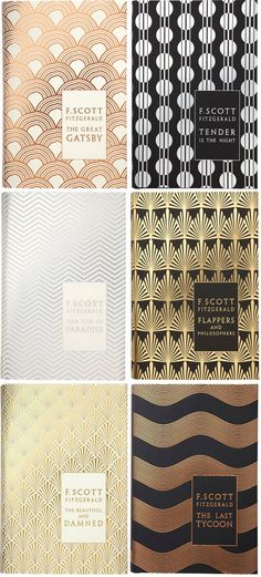 F. Scott Fitzgerald's hardcover backlist, designed by Coralie Bickford-Smith (yes, the same designer as the gorgeous clothbound classics series that was on everyone's Christmas list in 2009), published by Penguin Hardback Classics, 2011. for me