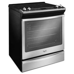 Whirlpool 6.2 cu. ft. Slide-In Electric Range with Self-Cleaning Convection Oven in Stainless Steel-WEE730H0DS at The Home Depot