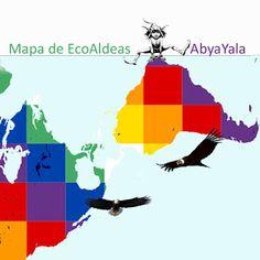 Mapa EcoAldeas AbyaYala - mapeamento de ecovilas e comunidades sustentaveis no continente americano