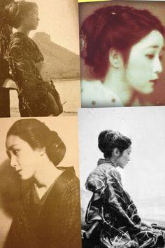 "O You お葉, real name ; 永井カ子ヨ - かねよ ""Nagaika-ko Yo - Kaneyo"" - Model & lover of Takehisa Yumeji 竹久夢二 (1884-1934) - 1920s"