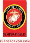 applique Marine Corps Garden Flag