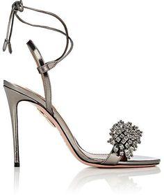 7715572a5923 Aquazzura Women s Monaco Specchio Leather Sandals High End Shoes