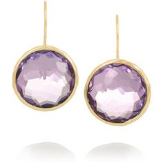 Ippolita Lollipop 18-karat gold amethyst earrings ($1,990) ❤ liked on Polyvore