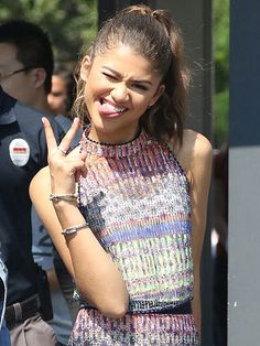 Star Tracks: Saturday, July 30, 2016 | FUNNY GIRL | Zendaya appears to be in a silly mood on the Hollywood set of Extra on Friday.