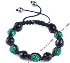 45mm Darkish Green Resin Crystal Disco Ball Bracelet Fashion Charms Jewelry