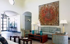 <b>Jean Claude Huon'</b>s interiors are situated at the unexpectedly brilliant intersection of Zen restraint and Palm Springs panache.