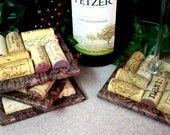 love these! wine cork coasters!