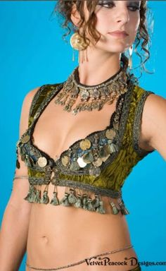 Turkish vest over coin bra, need to make one of these vests.