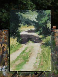 Easy Landscape Paintings, Seascape Paintings, Oil Painting On Canvas, Landscape Art, Painting & Drawing, Watercolor Paintings, Guache, Art Techniques, Oeuvre D'art