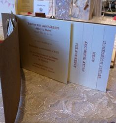 #Wedding Invitation Chequebook