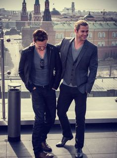 Tom Hiddleston with chris hemsworth | you're the only one who understands, mate