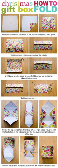 You can download and print this easy to fold Christmas box in three different designs - from www.picklebums.com: