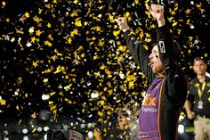 Denny Hamlin held off champion Kevin Harvick to take a first NASCAR All-Star win for himself, Joe Gibbs Racing and Toyota at Charlotte Motor Speedway on Saturday night. RACER.com