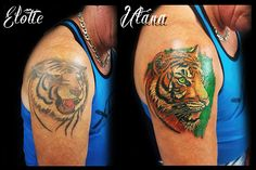Cover up tiger tattoo