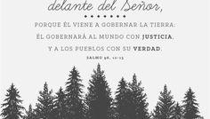 Griten de gozo los árboles del bosque... (Salmo 96, 12-13)