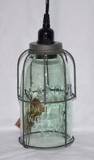 Half Gallon Caged Mason Jar Light  Pendant  Lamp New