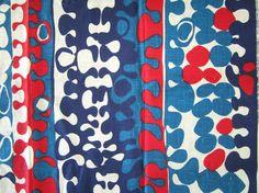Vintage Fabric Mid Century ABSTRACT Tablecloth Maharam