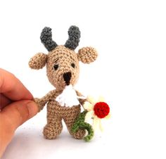 $23.46 #Crochet #goat #toy, #small #soft #toy, #plushie #farm #animal, #miniature #doll, #ultra-soft #tiny #goat #countryside #animals #sand #beige #gift #for #children