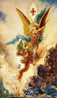 Saint Michael Vanquishing Satan, 1882, Gustave Moreau Source: http://www.wikipaintings.org/en/gustave-moreau/saint-michael-vanquishing-satan ❤❦♪♫