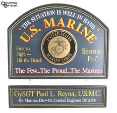 US Marines Personalized Wood Sign Marine Gifts, Military Gifts, Military Love, Military Service, Personalized Wood Signs, Custom Wood Signs, Diy Signs, Wall Signs, Patriotic Images