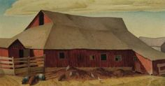 'Cook's Barn No. 1', by Marvin Cone.  1891-1964