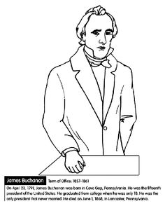 US President James Buchanan Coloring Page