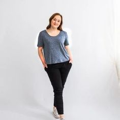 Eco-friendly t-shirt made in Toronto, Canada for minimalist styling. Perfect Wardrobe, My Wardrobe, Fast Fashion, Slow Fashion, Minimalist Wardrobe, Dress With Cardigan, Fashion Brand, Organic Cotton, Tees