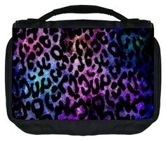 Watercolor Grunge Leopard Print Design TM Small Travel Sized Hanging Cosmetic/Toiletry Case with 3 Compartments and Detachable Hanger-Made in the U.S.A. * Check out this great product.