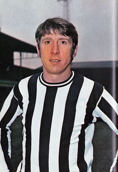 July 1968. Newcastle United and Wales centre forward Wyn Davies photographed at…