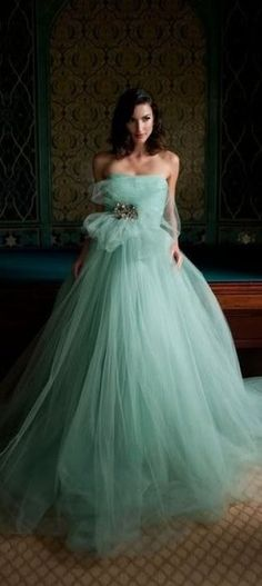 Today my post is all about stylish seafoam green wedding dress! I am here again to bring forth a fabulous collection of seafoam green wedding dress. Tulle Wedding Dresses, Tulle Gown, Wedding Gowns, Prom Dresses, Gown Dress, Chiffon Dress, Bridesmaid Dresses, Strapless Gown, Formal Dresses
