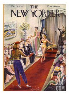 Vintage Illustration The New Yorker December 9 1939 - The New Yorker December 9 1939 The New Yorker, New Yorker Covers, Vintage Comics, Vintage Posters, Vintage Ads, Creepy Comics, Magazine Art, Magazine Covers, Vintage Magazines