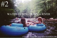 Water-tubing down in a river. In preparation for august. #Bucketlist