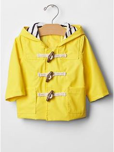Rain slicker | Gap. Keep your toddler dry with this incredibly adorable rain coat. #BabyFashion