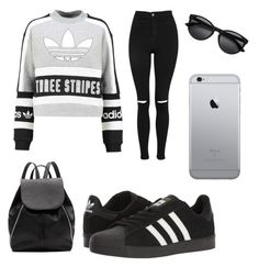 """Casualistic"" by omaimamassher on Polyvore featuring adidas Originals, Topshop, Witchery and adidas"