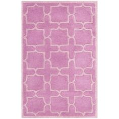 @Overstock - A contemporary design and dense, thick pile highlight this handmade rug inspired by Moroccan patterns with today's updated colors. This floor rug has a pink background and displays stunning panel colors of ivory.http://www.overstock.com/Home-Garden/Handmade-Moroccan-Pink-Wool-Rug-3-x-5/7153876/product.html?CID=214117 $87.99