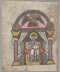 Codex Aureus de Cantorbéry: St Jean, f 150v, National Library of Sweden.- CODEX AUREUS DE CANTORBERY (STOCKHOLM), 3: Suite à un raid normand vers 800, le manuscrit est volé, puis racheté au IX°s par le roi ALFRED L GRAND et redonné à la cathédrale. Il est de nouveau perdu par la suite. Sa trace est retrouvée au 17°s en Espagne: il est la propriété de Catalina de Haro, marquise de Heliche dans la 2° moitié de ce siècle. Un antiquaire suédois, Jean Gabriel Sparwenfeldt (1655-1727) le lui…