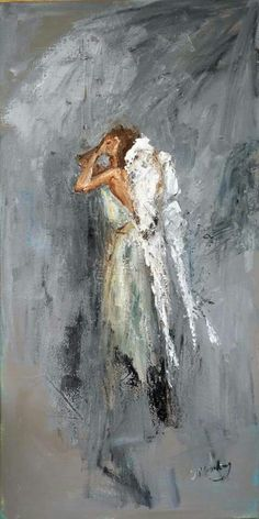 Anguish by Judy Mackey - A weeping angel painting in soft gray tones. Angel Wings Decor, Angel Artwork, Angel Pictures, Christmas Paintings, Christian Art, Religious Art, Art Auction, Medium Art, Art Projects