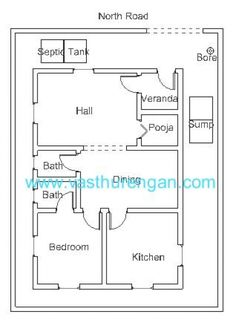 ... 3 Bedroom Vastu House Plans. Vastu Plan For North Facing Plot 2 (