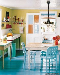 Color Therapy: Using Pops of Color in the Kitchen