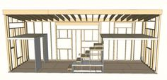 Tiny House Plans - hOMe Architectural Plans - 207 sf on ground floor plus lofts