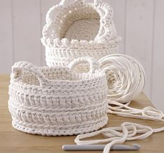 cute crochet baskets by sweet.dreams