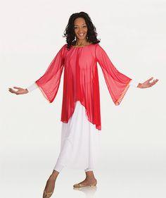 515 Glorious Chiffon Angel Sleeve Tunic $26.25