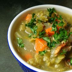 Slow Cooker Split Pea Soup with Bacon