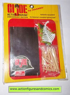 Gi joe ACTION MARINE TENT CAMOUFLAGE equipment accessory 12 inch commemorative 1998 mib moc mip vintage
